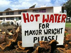 Water for Mayor Wright